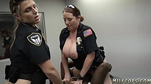 At work, Redhead, Boobs, Big black cock, Police, Pussy, Blonde